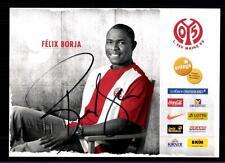 Felix Borja Autogrammkarte FSV Mainz 05 2009-10 Orignal Signiert + A 121395