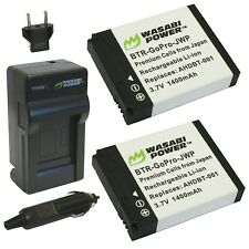 Wasabi Power Battery (2-Pack) and Charger for GoPro HD HERO2 GoPro Original H...
