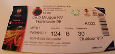old TICKET EL Club Brugge Belgium - Hannover 96 Germany