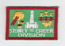 SCOUT OF CANADA - CANADIAN SCOUTS ONTARIO (ONT) STONEY CREEK DIVISION Patch