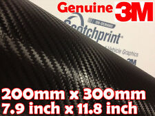 Original 3m Scotchprint 1080 Fibra De Carbono Cf12 A4 200mm x300mm Negro Vinilo Wrap