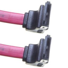75cm RED Serial ATA SATA II data cable HDD/DVD Keyed Left Right Angled Angle