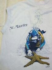 Vintage Black Swan Boutique St. Maarten Scuba Diving  Sleeveless T Shirt S