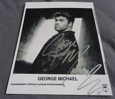 George Michael RARE signed autographed photo WHAM stunning 8 x 10 UACC RD#336