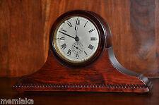 Reloj Despertador Raro alemán Gustav Becker manto Desc De Madera Circa 1900 (0999)