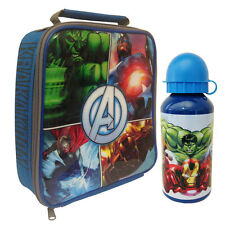 Marvel Avengers - Vertical Lunch Bag & Aluminium Drink Bottle - *BRAND NEW*