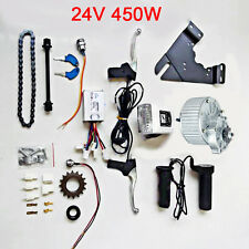 Durable 24V 450W E-bike Electric Bicycle Refit Geared Brush Motor Components Kit