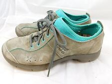 Dansko Women's Elise Shoes  39  9  Gray Seafoam Suede Oxfords Lace Up