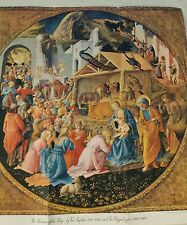 Vintage 1952 The Adoration of the Magi Print By Fra Angelico National Geographic