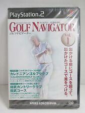 PlayStation2 -- GOLF NAVIGATOR Vol.1-- NEW & Sealed! JAPAN GAME. PS2. 33638