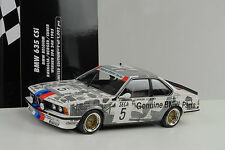1985 BMW 635 CSI WINNER SPA 24h Ravaglia Berger Surer 1:18 Minichamps Diecast