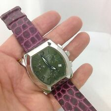 INVICTA RARE SWISS CHRONOGRAPH WATCH WITH PURPLE FACE AND PLUM LEATHER STRAP