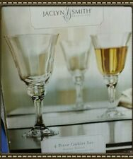 Jacqueline Smith Ainsley Terrace 4 piece goblet set. NIB