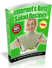 INTERNET'S BEST SALAD RECIPES  PDF EBOOK FREE SHIPPING RESALE RIGHTS