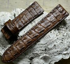 GENUINE Brown ALLIGATOR, CROCODILE LEATHER SKIN WATCH STRAP BAND 22mm