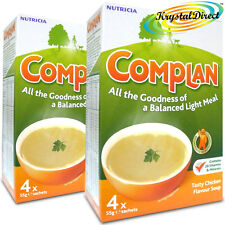 2x Nutricia Complan Chicken Flavour Vitamin Mineral Energy Soup 4 Sachets