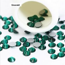 3D Nail Art Tips 1440pcs SS6(2mm) Crystal Emerald Rhinestone DIY Decoration