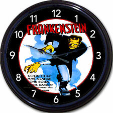 Frankenstein Boris Karloff Horror Movie Wall Clock Monster Classic Mary Shelley