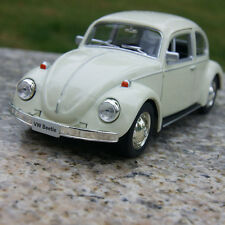 "Classic VW Beetle 1967 beige 5"" Alloy Diecast Model Cars Pull back function Toys"