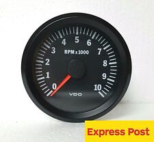 VDO COCKPIT VISION TACHOMETER 12V 80mm  10,000 RPM AUTOMOTIVE 333015046