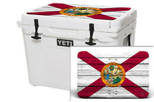 Skin Decal Wrap 24 mil for Yeti Roadie 20 qt Cooler Lid sticker Florida Flag Wd