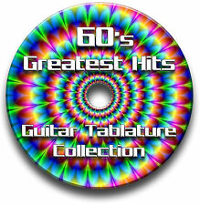60'S HITS COLLECTION POP ROCK GUITAR TABS TABLATURE SONG BOOK SOFTWARE CD
