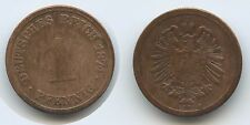 G9555 - Germany Empire 1 Pfennig 1874 A KM#1 Deutsches Reich