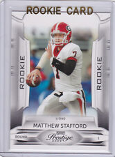 MATTHEW STAFFORD Georgia Bullgogs FOOTBALL ROOKIE CARD 2009 Playoff Prestige RC