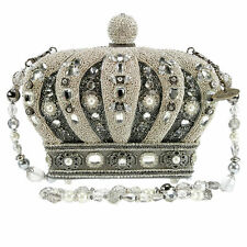 Mary Frances Handbag Crowning Glory Queen Crown Beaded Jeweled Shoulder Bag New