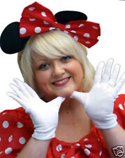 RED/WHITE SPOT MINNIE MOUSE EARS & GLOVE SET