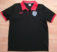 ENGLAND UMBRO BLACK FOOTBALL SOCCER TRAINING POLO SHIRT JERSEY XL ADULT