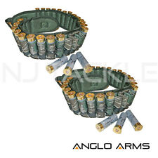 2 X NEW Anglo Arms Camo 12 Bore Shotgun Cartridge Belt Holder smokey branch NEW