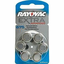 60 x Rayovac audífonos-baterías 675 extra Advanced 1,45v 640mah 675aun-6xemf