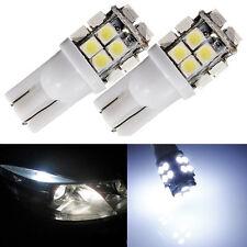 2x T10 W5W 194 501 20 SMD 3528 LED M158 M155 Ampoule Feux Lampe Blanc Voiture