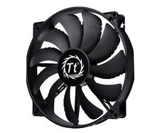 Thermaltake 20cm 200mm Negro Puro Funda Fan - 129.639 Cfm-cl-f015-pl20bl-a