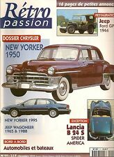 RETRO PASSION 111 LANCIA AURELIA B24 S SPIDER CHRYSLER JEEP GRAND WAGONEER 65 88