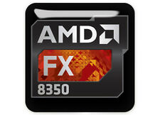 AMD FX 8350 1x1 Chrome Domed Case Badge / Sticker Logo