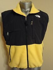 **VINTAGE**  THE NORTH FACE MEN VEST MEDIUM YELLOW BLACK fleece jacket  EUC