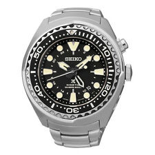 New Seiko SUN019 X Prospex Kinetic GMT Stainless Steel Diver's 200M Men's Watch