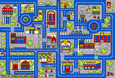 5x7 Rug Play Road Driving Time Street Car Kids Town Map Street City Fun Time New