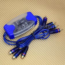 CAR AUDIO STEREO RCA NOISE FILTER GROUND LOOP ISOLATOR