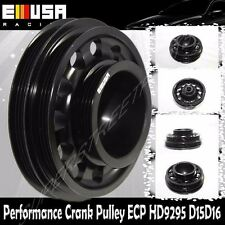 EMUSA Aluminum Performance Black Crank Pulley for 92-95 Civic SOHC D15D16