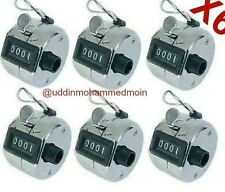 6 X Metal Tally Counter 4 dígitos Mano Tally Counter Manual Clicker Club De Golf