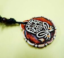Rare Taino Biker Culture Embossed Fertility Goddess Pendant Necklace