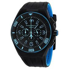 New Mens TechnoMarine 112003 Night Vision II Chrono Extra Blue Strap Watch
