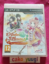 ATELIER MERURU  : THE APPRENTICE OF ARLAND  PS3 VERSION FRANCAISE NEUF