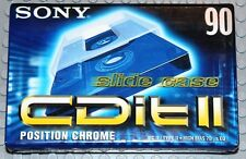 SONY  CDit  II    90        BLANK CASSETTE TAPE (1) (SEALED)