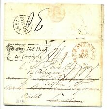 NEDERLAND 1831 s-GRAVENHAGE-LONDON -REDIRECTED BRISTOL- MANY PM