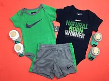 AIR NIKE Baby Newborn 5-PC Outfit GIFT Set Bodysuits Booties & Shorts 3-6M