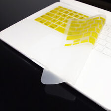 """FULL YELLOW Keyboard Skin Cover Case for Macbook White 13"""""""
